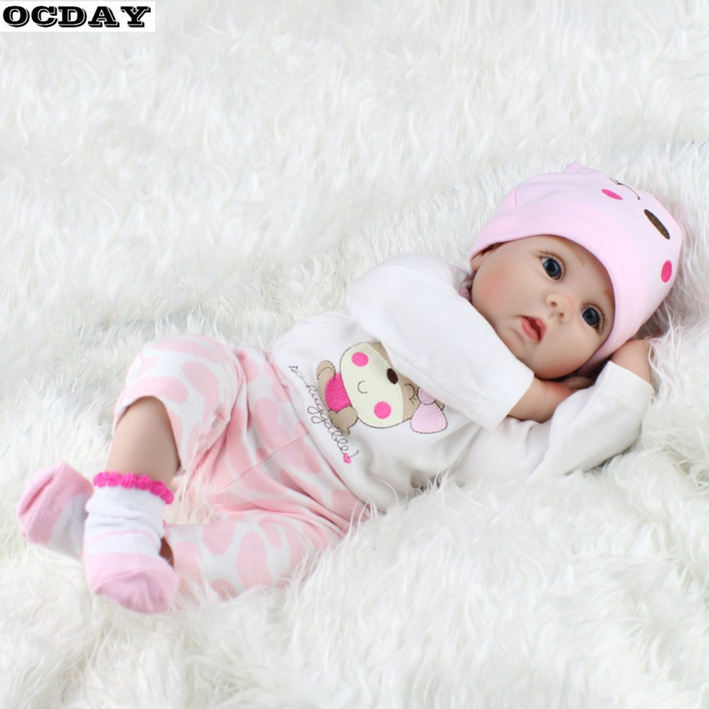 55CM Soft Vinyl Baby Dolls Handmade Design Cloth Reborn Body Lifelike Alive Babies Doll Toys For Kids Chirstmas Girls Toys New 18 inch vinyl reborn doll kids playmate gift for girls 45 cm baby alive soft toys for children lifelike reborn babies dolls