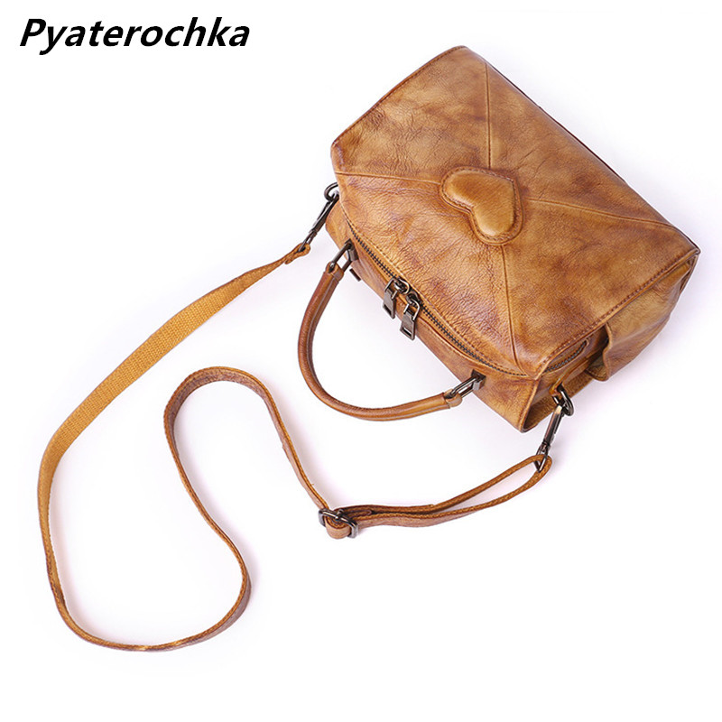 Pyaterochka cuero genuino Bolso pequeño para las mujeres Vintage hombro Crossbody bolsos de lujo remiendo Bao alta calidad Flap