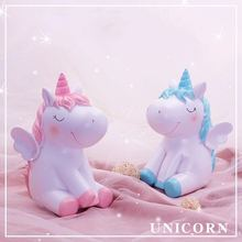 Emerra Angel Unicorn Dream Cartoon Creative Resin Savings Tank Home Decoration Crafts Free Shipping