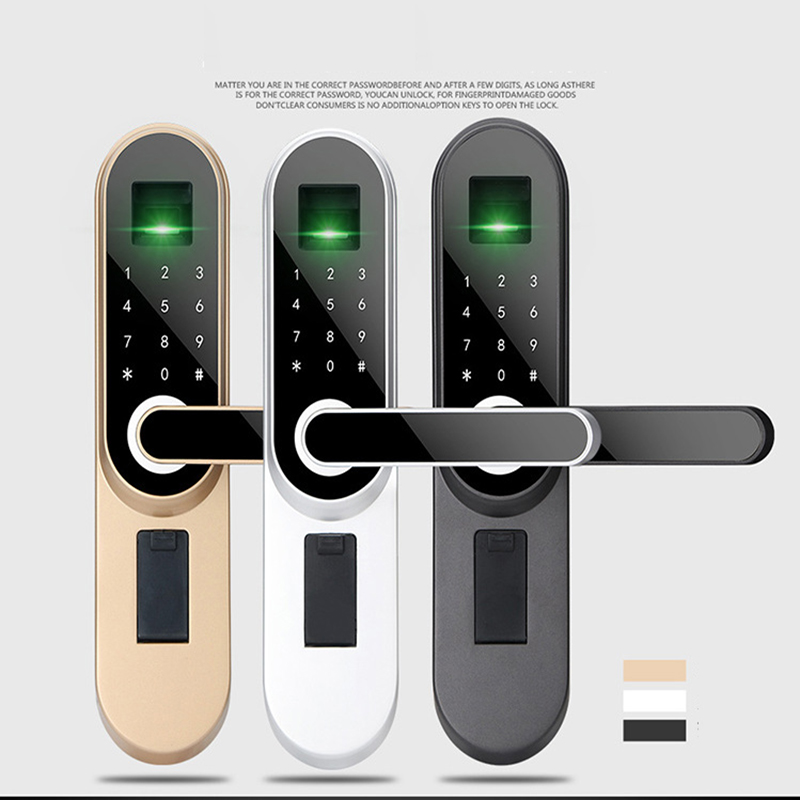 2019 Fingerprint Smart Door Lock Code Touch Screen Digital Password Biometric Electronic Lock Key for Home Office lk01 in Electric Lock from Security Protection