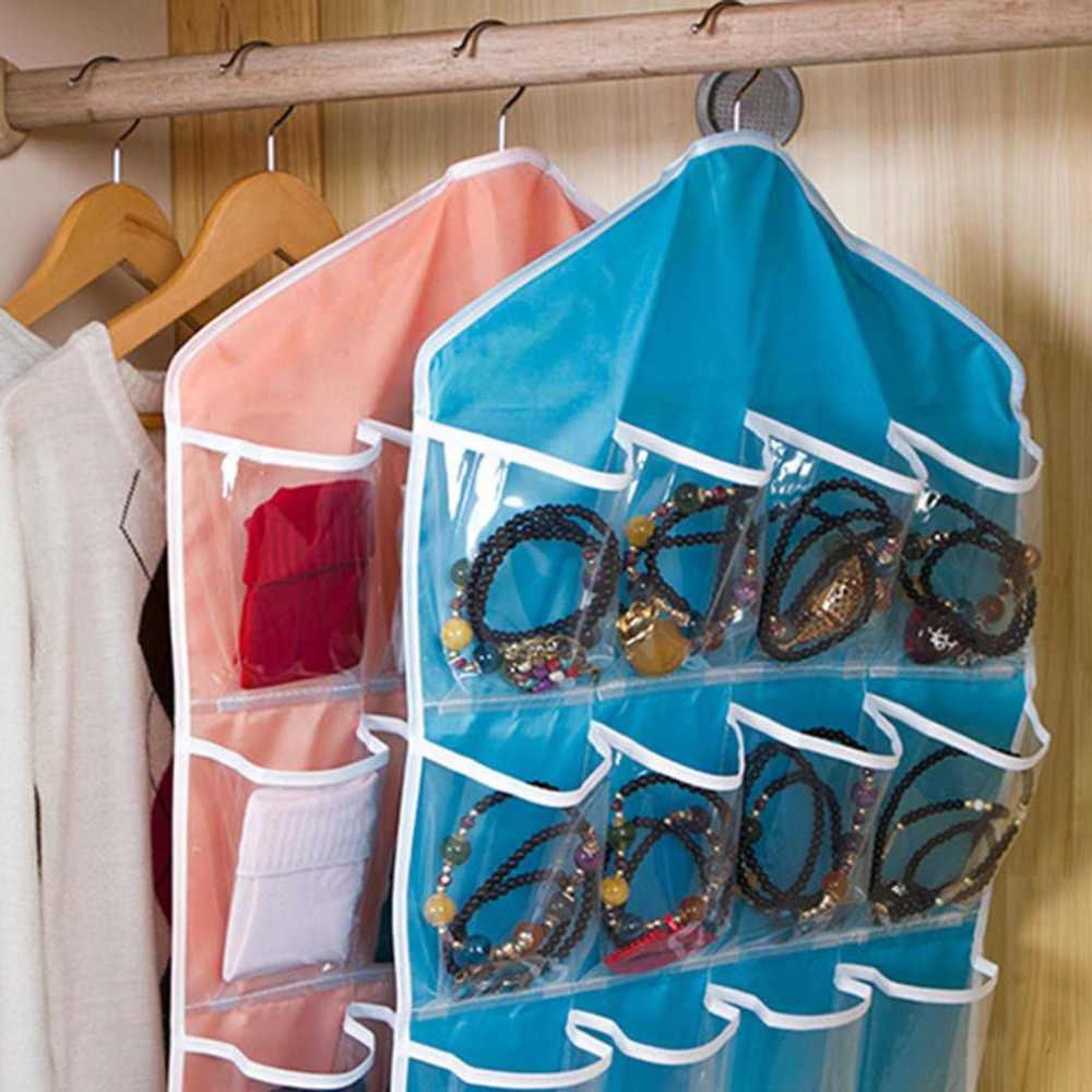16 شبكات طوي خزانة أكياس معلقة الحاويات الملابس الداخلية حمالات الصدر الجوارب العلاقات شماعات الأحذية حقيبة التخزين انخفاض الشحن