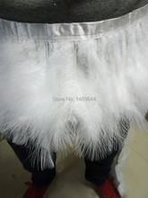 hot 2 meters White marabou trim feather trimming fringe marabou feather fringe (14-19cm) wide Turkey Fluff Feather Fringe Trim