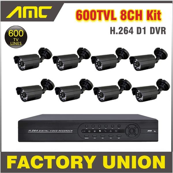 8 Channel 600TVL CCTV Camera Outdoor with Recorder Cameras Security Surveillance CCTV System 8ch DVR Kit