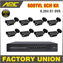 8 Channel 600TVL CCTV Camera Outdoor with Recorder Cameras Security Surveillance CCTV System 8ch DVR Kit D1 8Channel NightVision