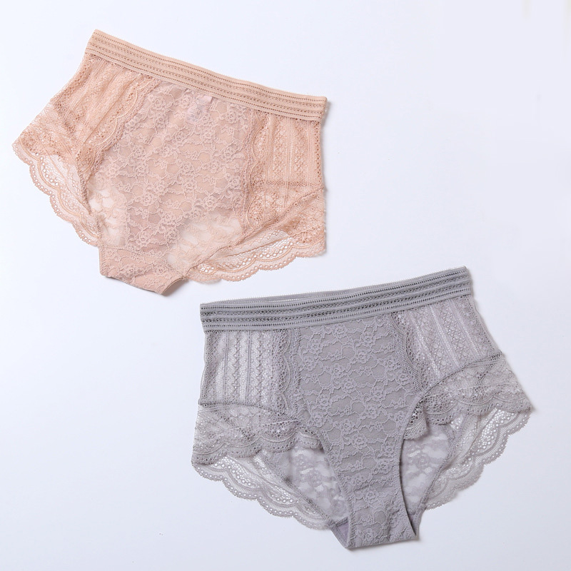 Sexy Lace Women   Panties   Transparent High Waist Seamless Woman Underwear Hollow Soft Elegant Knickers Calcinha Lingerie Briefs