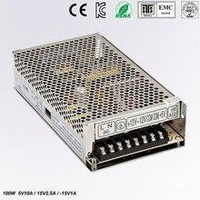 цена на Triple Output power supply 100W 5V 10A 15V 2.5A -15V 1A ac to dc power supply T-100C high quality CE approved