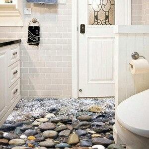 Criativo Adesivo De Parede De Pedra Do Rio Calçada 3d À Prova D' Água Do Banheiro Cozinha Piso Decor Adesivos diy Decoração Home Original SD159