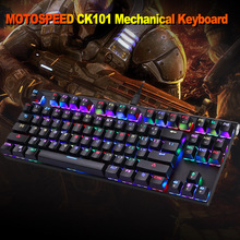 MOTOSPEED CK101 RGB Mechanical Keyboard 87 Keys Anti Ghosting Blue Switches LED Backlit USB Wired font