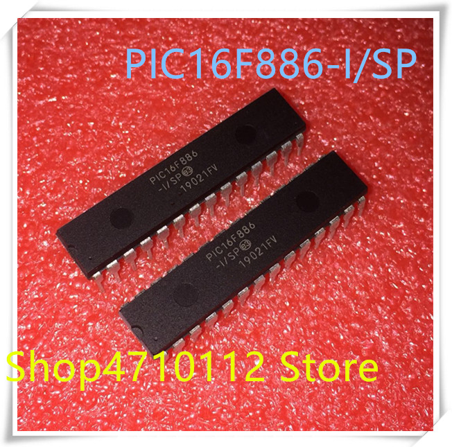 NEW 10PCS/LOT PIC16F886-I/SP PIC16F886 16F886 DIP-28 IC