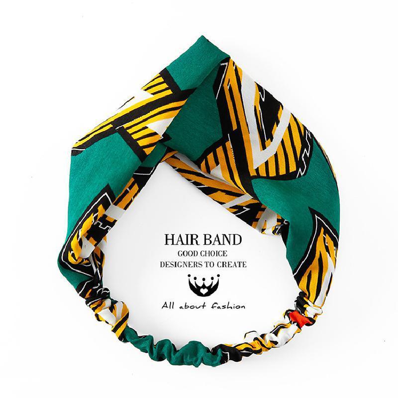 Hoofdband Women Fashion Headbands Cartoon Flamingo Cross Hair Bands Turban Bandage Bandana Headwear Headwrap Hair Accessories
