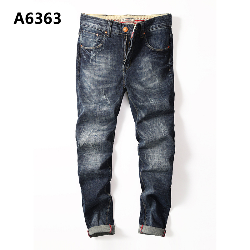 Regular Fit Denim Overalls Men High Quality Cotton Mid Stripe Blue Jeans Masculino Plus Size Designer Casual Jeans Men A6363 all seasons famous brand jeans men straight denim classic blue jeans pants regular fit high quality plus size 28 to 40 sulee