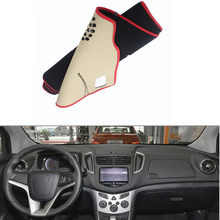 Автомобиль, Пригодный Для Chevrolet Trax 2014 Приборной Панели Автомобиля Избегайте Свет Pad Инструмент Крышка Платформы Стол Коврик Силиконовый небуксующий задней Поверхности