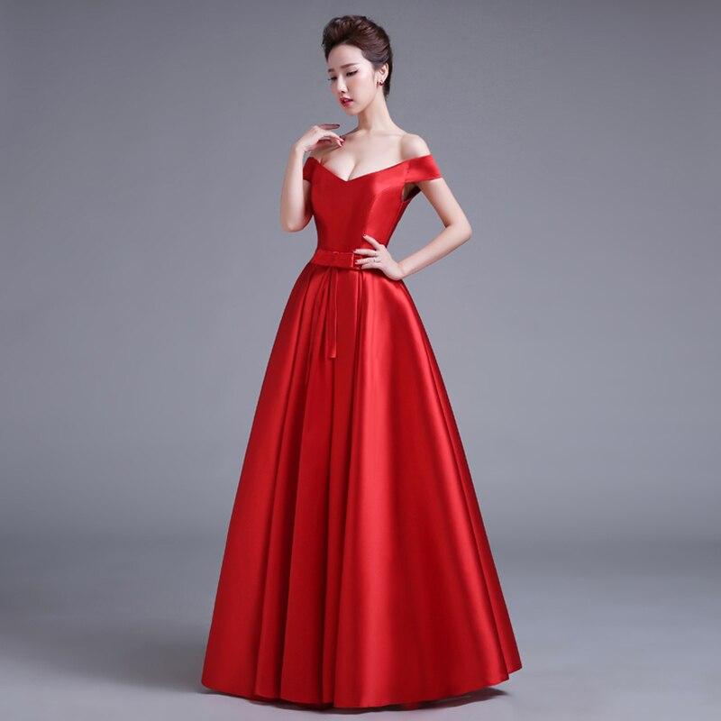 Robe De soirée manches courtes couleur rouge Satin longues robes De soirée nouvelle longueur De plancher Vintage dentelle Top pas cher robes De bal