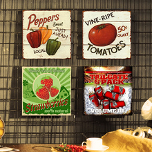 Peppers Vintage Metal Tin Signs Wall Poster Decals Plate Painting Bar Club Pub Home Art 30*30 CM