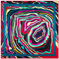 100*100cm 2016 new women's twill Silk scarves geometrical vortex wave abstract pattern igital print female twill silk shawls