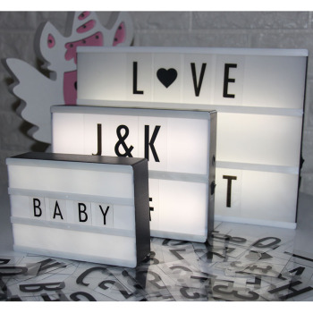 Led Letter Lamp A6 A5 A4 Size DIY Plastic Light Box With 85 Letters Plasic Lightbox Led Marquee Sign Table Decoration Lighting qyjsd a4 size led combination creative night light box lamp diy black letters cards usb port powered cinema light box