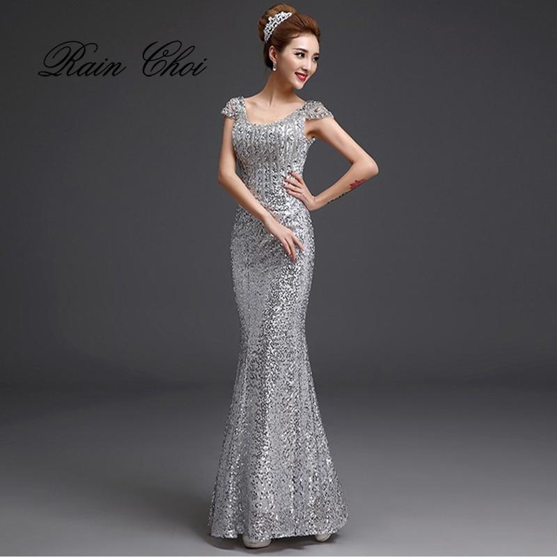 2019 Duga sirena Večernje haljine Formalne Prom haljina Sequins - Haljina za posebne prigode - Foto 1