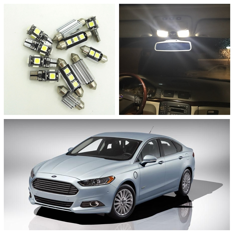 12Pcs White LED Light Bulbs Interior Package Kit For Ford Fusion 2010 2011  2012 2013 2014 Map License Plate Light Ford B 07 In Signal Lamp From  Automobiles ...