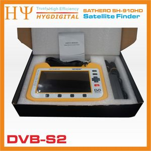 Image 5 - [حقيقية] ساثيرو SH 910HD DVB S2 الرقمية جهاز قياس القمر الصناعي Satfinder HD مع الوقت الحقيقي محلل الطيف وظيفة 7 inch