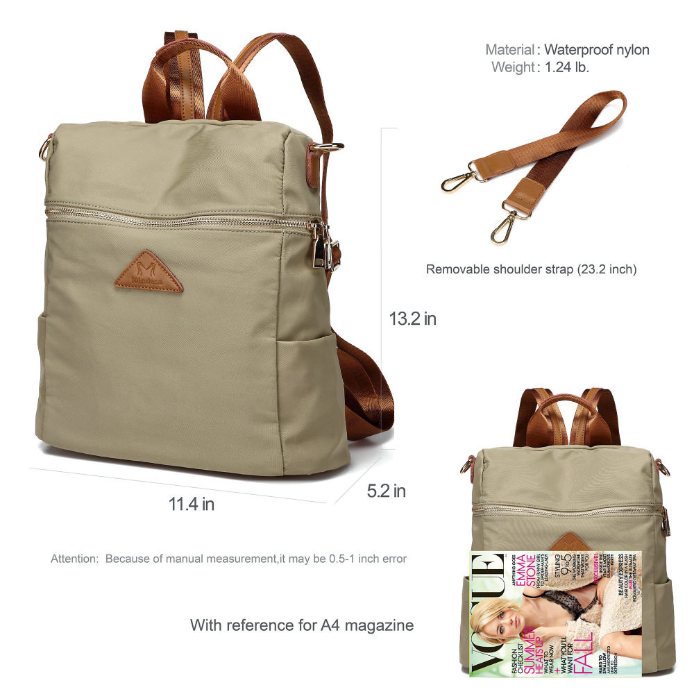 Vrouwen waterdichte nylon back pack dames schouder lichtgewicht reizen purse sling tassen voor vrouwen college boekentas - 6