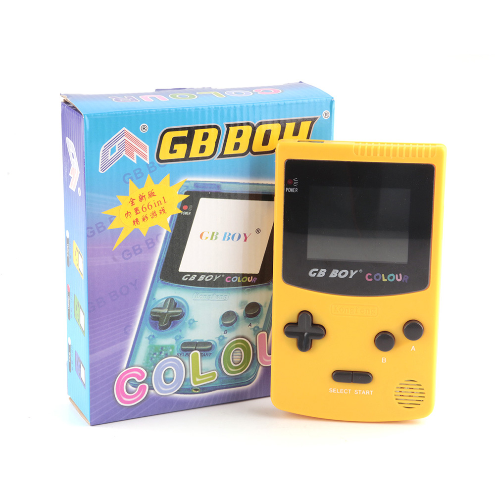 GB Boy Classic Color Colour Handheld Game Console 2.7 Screen Portable Child Game Player with Backlit 66 Built-in Games