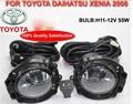 car-styling,Daihatsu fog lamp,2008,Halogen,2pcs/set+wire ON/FF,Daihatsu headlight,steering-wheel,Daihatsu front light;