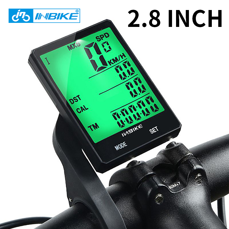 INBIKE 2.8 Inch Bike Wireless Computer Rainproof Multifunction Riding Bicycle Odometer Cycling Speedometer Stopwatch Backlight