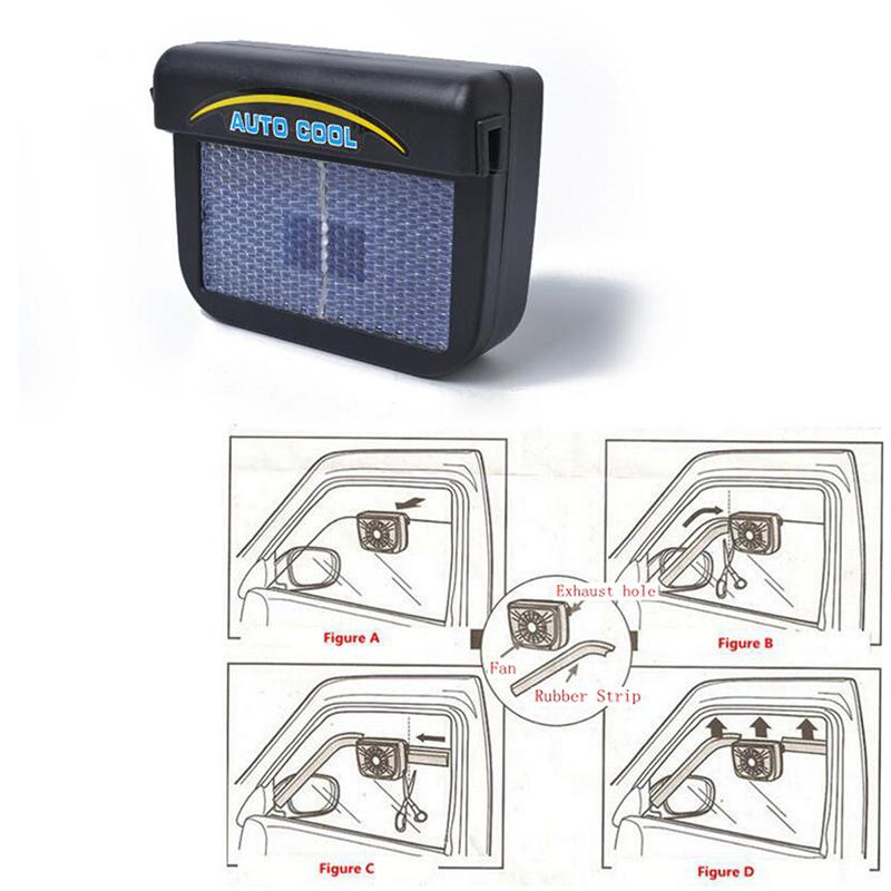 BEESCLOVER Car Solar Energy Air Exhaust Fan Energy-saving Cooling Fans High strength material Car exhaust fan Universal Use r24