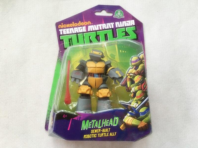 "Playmate Toys TMNT <font><b>Teenage</b></font> <font><b>Mutant</b></font> <font><b>Ninja</b></font> <font><b>Turtles</b></font> 5"" <font><b>Metalhead</b></font> Action Figure Toy New Sealed"