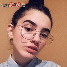2019 New Designer Woman Glasses Optical Frames Metal Round Frame Clear lens Eyeware Black Silver Gold Eye Glass