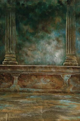 10x20ft 100%Cotton hand painted old MUSLIN pillar BACKDROP SCENIC BACKGROUND,fantasy cloth wedding backgrounds for photo studio