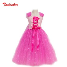 New Beautiful Bow-Knot Princess Tutu Tulle Dress Sequin Flowers  Party Dress Halloween Party Tutu Dress 2016 summer baby girls sequin dress stars sequins tulle bow toddler tutu princess dress girl kids costumes 1 5years sequin dress