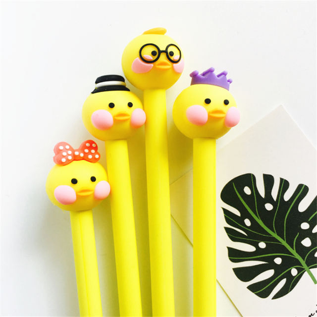 interesting office supplies. Trochilus 2Pcs Cute Duck Gel Pen School Stationery Office Supplies Kawaii For Girl Interesting P
