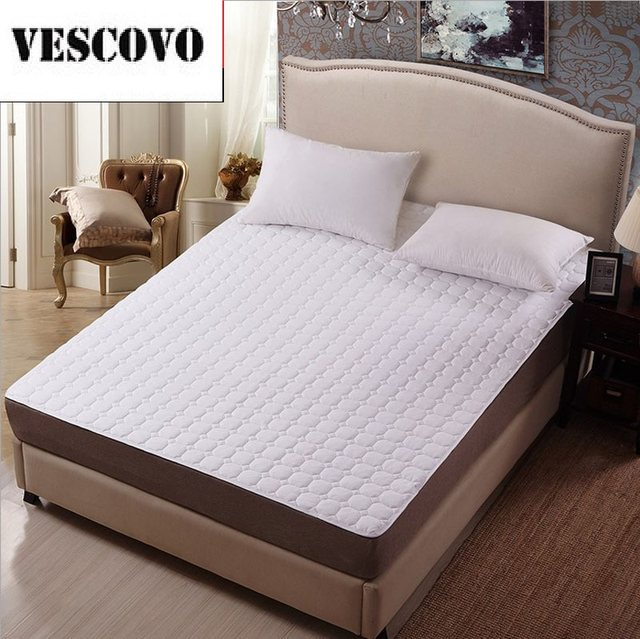 Online Shop White bed protection pad quilted mattress protector ...