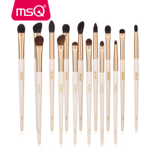 MSQ Makeup Brushes Set Eye Shadow Eyelashes Eyebrow Concealer Nose Eyes Make Up Kit Cosmetic Horse/Goat Hair With Case