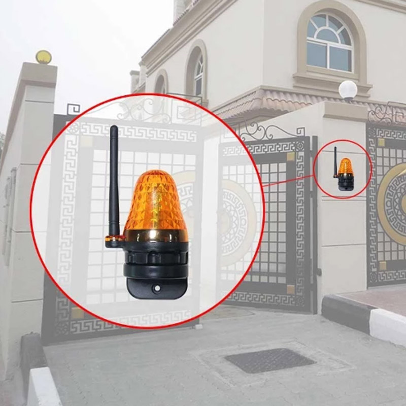 Home outdoor Universal 12V 220V LED Signal Alarm Light Strobe Flashing Emergency Warning Lamp wall mount for Automatic Gate Open