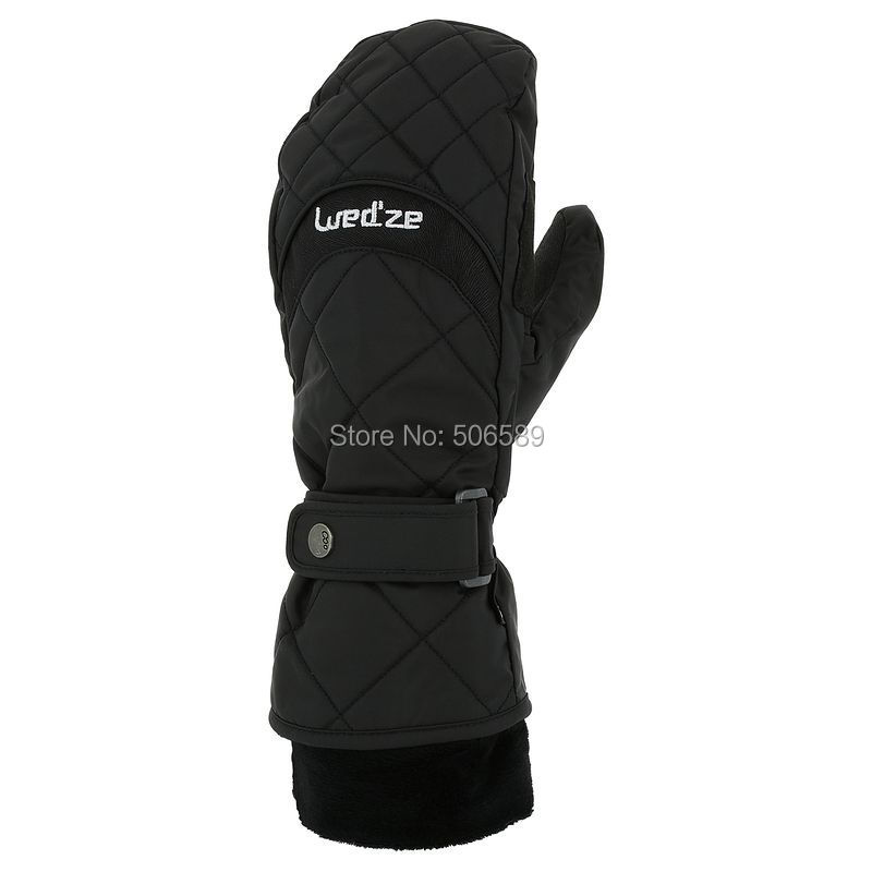 free shipping female skiing gloves water-proof warm keep easy wear 150g/sqm