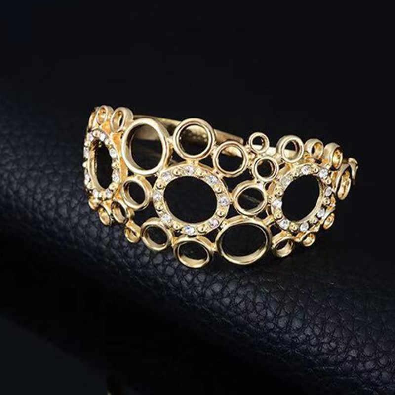 F & Y Дубай золотой красочный Ювелирный Набор оптом нигерийские Свадебные модные африканские женские Геометрические элементы ювелирный набор