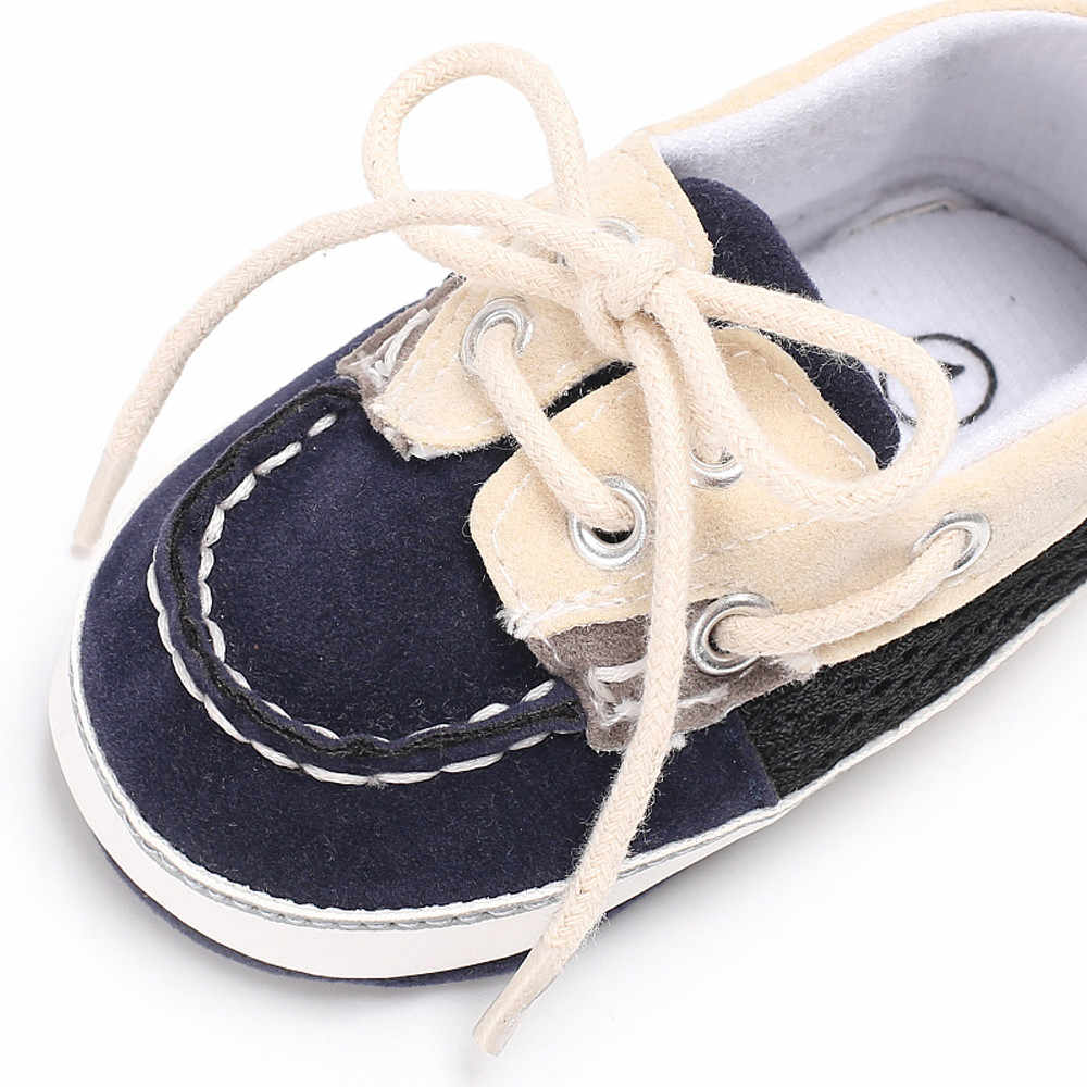 เด็ก Thicken รองเท้าเบาะรองเท้า First Walkers รองเท้าด้านล่างนุ่มลื่นฤดูใบไม้ผลินุ่มน่ารักลื่นรองเท้าผ้าใบ Lazy