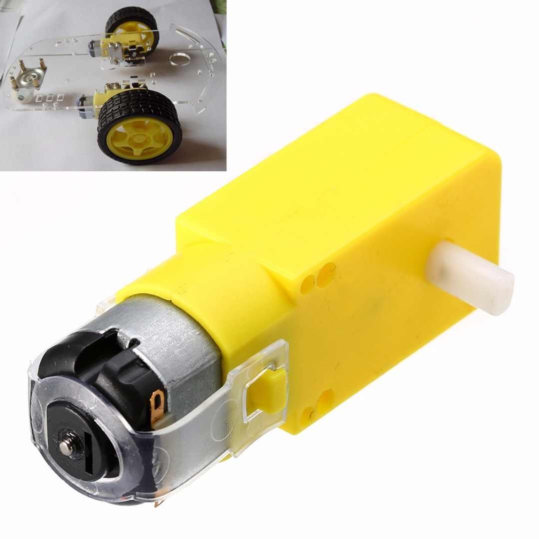 Mayitr 1pc Plastic Gear Motor DC 3V-6V 1:48 Gear Motor For Intelligent Car TT Robot 7 x 2.2 x 1.8cm