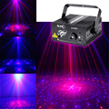 New 2 Lens * 20 Big Patterns RB Laser Crossover Effect Projector 3W Blue LED Mixing Effect DJ KTV Party Stage Lighting AZ40RB