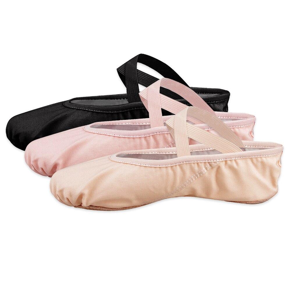 Bezioner Girls Canvas Ballet Shoes Ballet Slipper for Kids Women,Yoga Shoes for Dancing