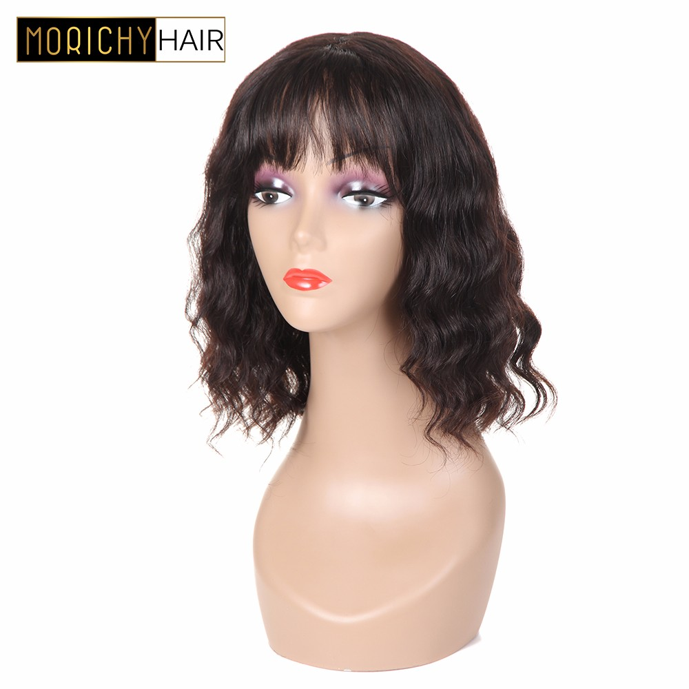 Human Hair Lace Wigs Sapphire Glueless Human Hair Wigs With Bangs For Black Women Remy Brazilian Human Hair Lace Front Wig Pre Plucked Bang Good Taste