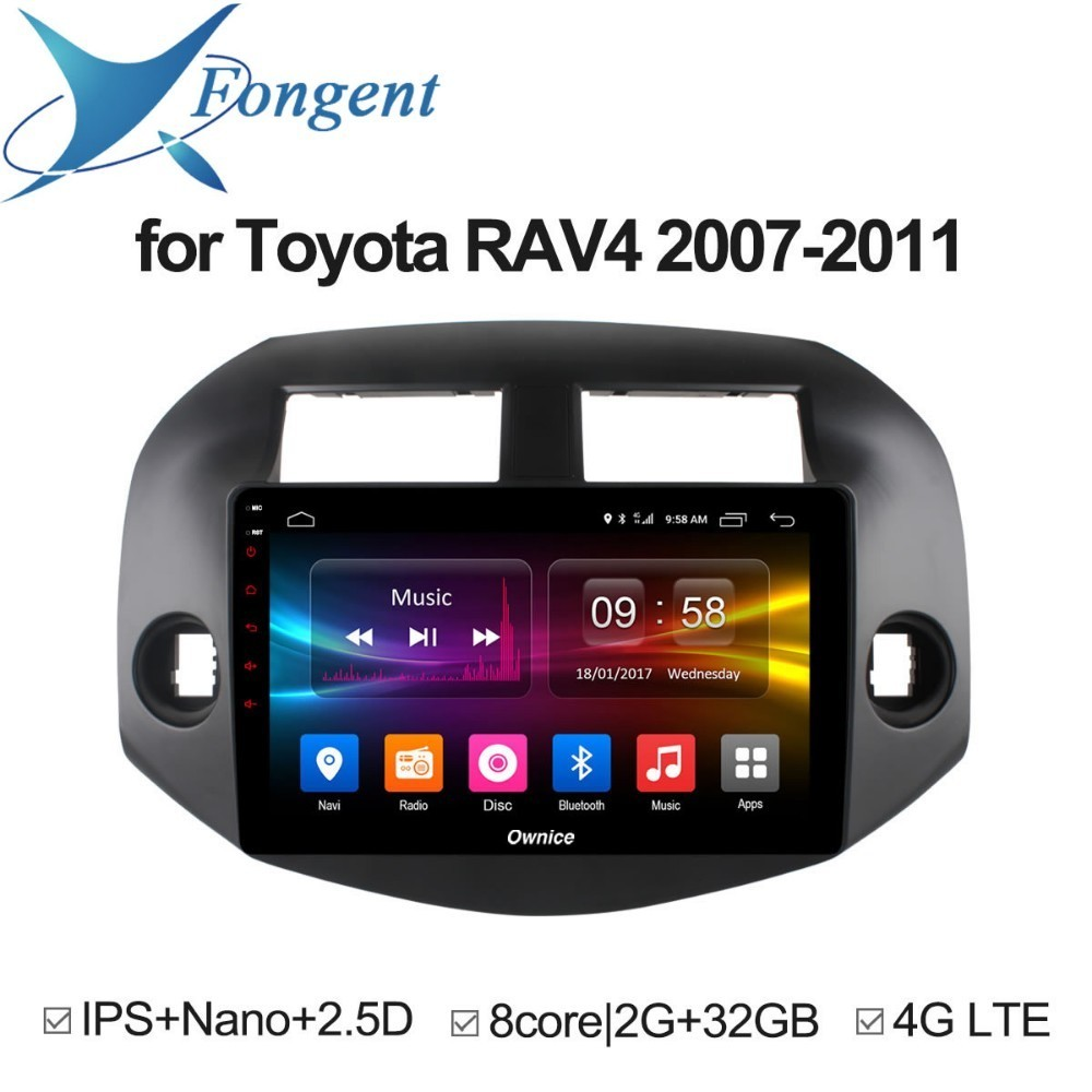 for Toyota RAV4 2007 2008 2009 2010 2011 Car Android Unit 2 Din Radio DVD Multimedia player Intelligent System GPS Navigator DAB for mazda 6 ruiyi ultra 2008 2009 2010 2011 2012 android unit radio stereo multimedia player 1 2 din dvd gps navigator carplay