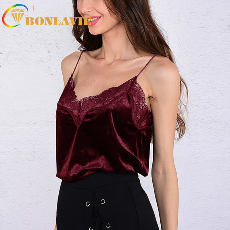 Vest Tops Stitching Women's HALTER-TOP Lace Black Off-Shoulder Summer Solid with And