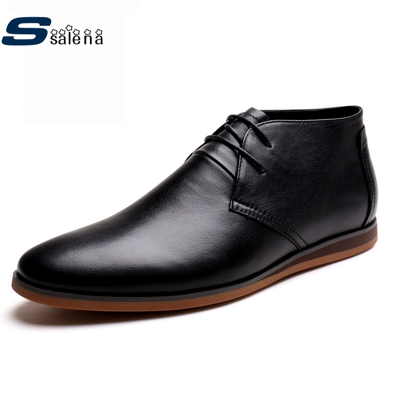 SSALENA 2017 Men oxford spring summer black split leather shoes casual breathable men oxford shoes big size 37 44 #C002 2017 new spring imported leather men s shoes white eather shoes breathable sneaker fashion men casual shoes