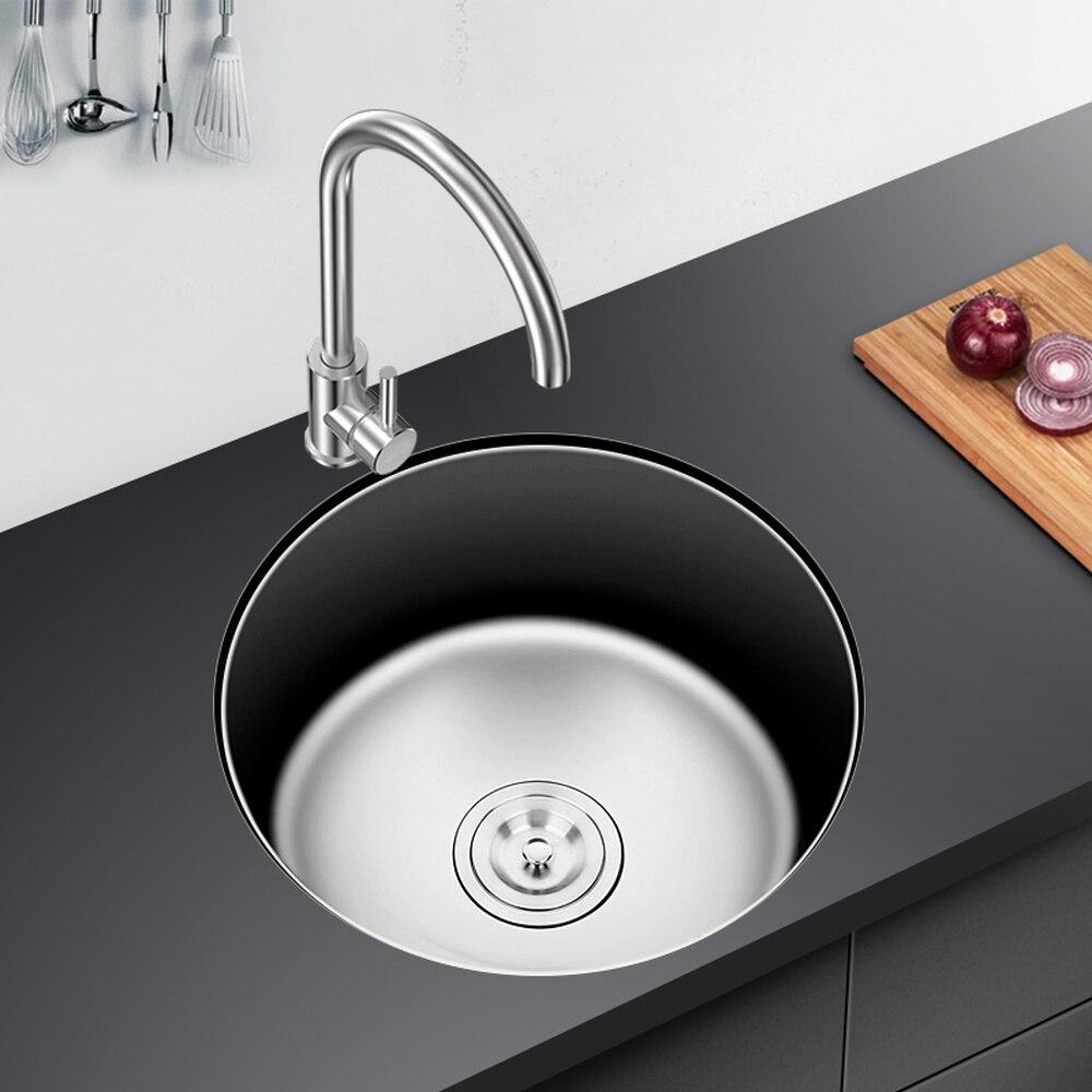 Кухня раковина канавка нержавеющая сталь 304 круговой лотка с воды фитинги медь кран холодной и горячей двойного назначения wx4181052