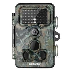 Neewer Trail Game Camera 16MP 1080P HD Digital Waterproof Hunting Scouting Cam 120 Degree Wide Angle Lens with 0.3s Trigger