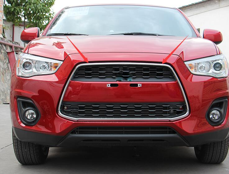 ABS Chrome Front Center Grille Grill Frame Cover 1pcs NEW !!For Mitsubishi  ASX Outlander Sport 2013 2014 2015