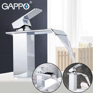 Image 1 - Смеситель для ванной комнаты GAPPO, Широкий водопад, хромированный полированный кран, крепление на раковину
